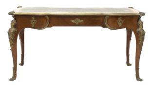 A good mahogany bureau plat,
