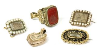 A quantity of Georgian and Victorian jewellery,
