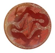 A ruby lustre plate,