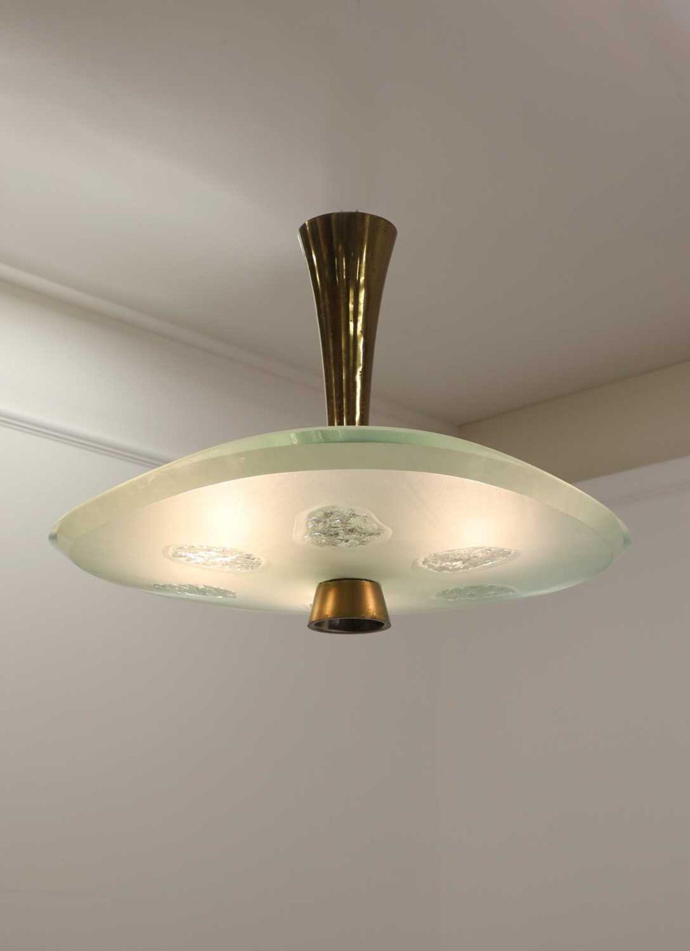 A Fontana Arte 'Model 1748' ceiling light,