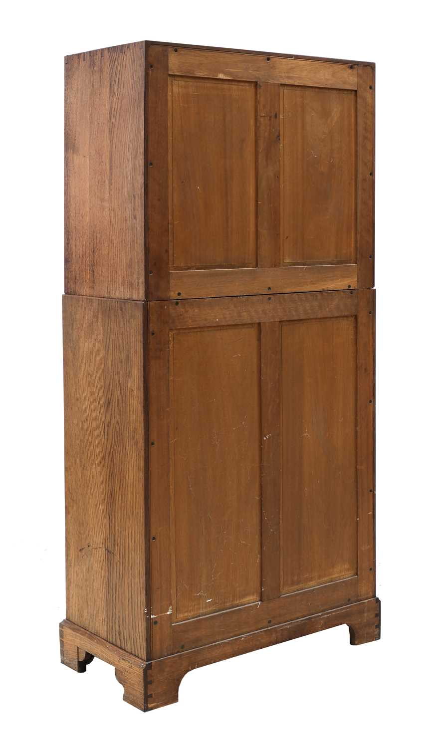A Gordon Russell oak two-part cabinet and chest, - Image 4 of 5