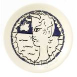 A Seyei porcelain plate,