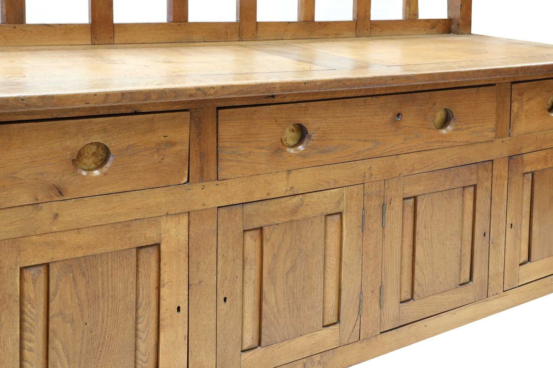 An oak sideboard, - Image 3 of 4
