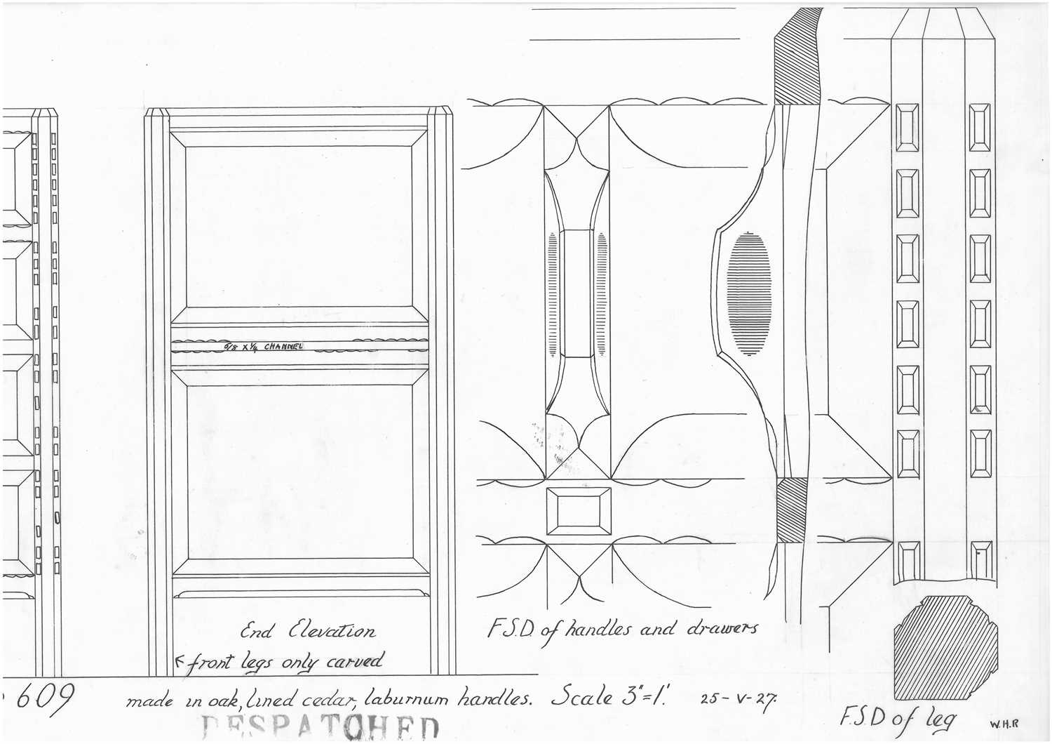 A Gordon Russell 'Stow' oak chest of four drawers, - Image 3 of 6