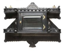 An Aesthetic ebonised wall cabinet,
