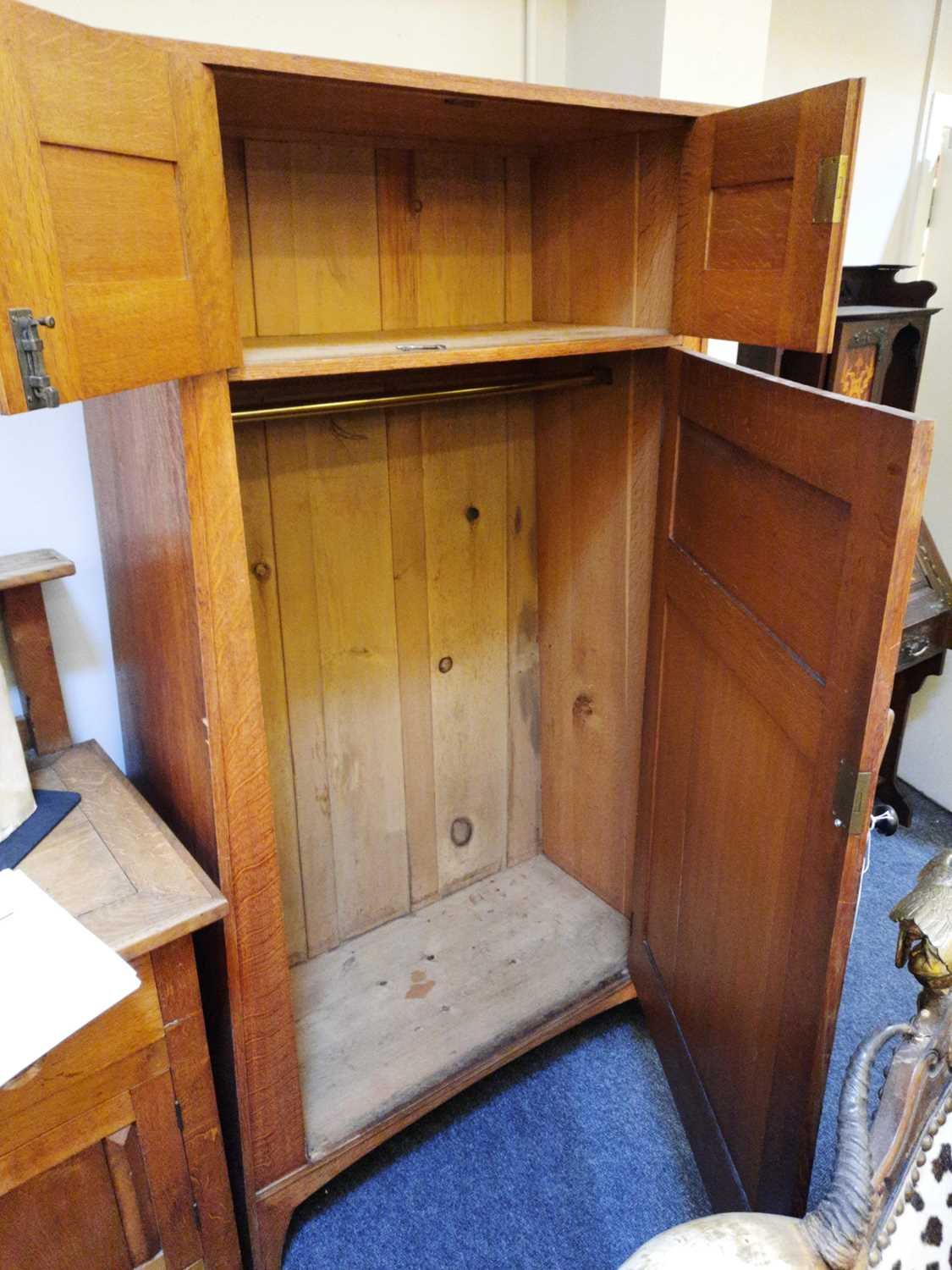A Heal and Son oak wardrobe, - Image 7 of 7