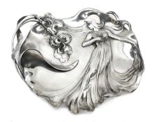 A WMF silver-plated card tray,