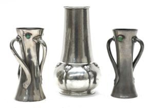 A Liberty & Co. Tudric pewter vase,