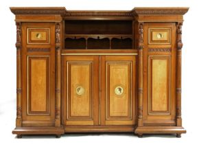 A walnut and maple compactum,