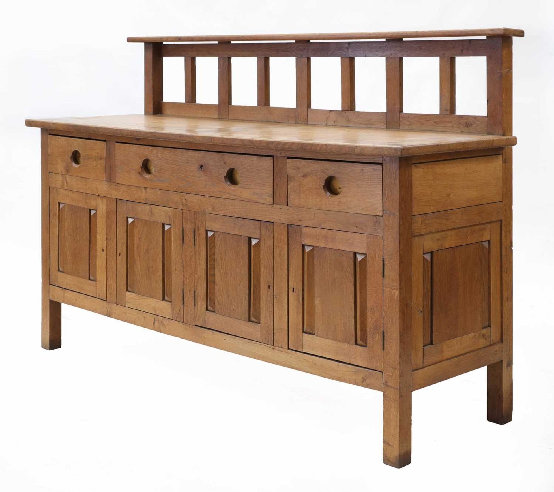 An oak sideboard,