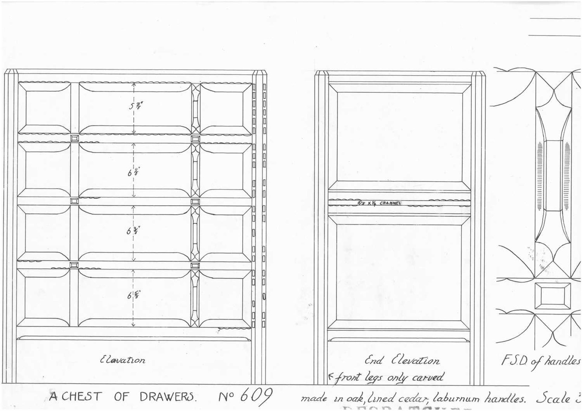 A Gordon Russell 'Stow' oak chest of four drawers, - Image 2 of 6