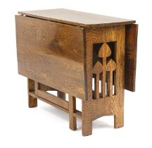 An Arts and Crafts oak gateleg table,