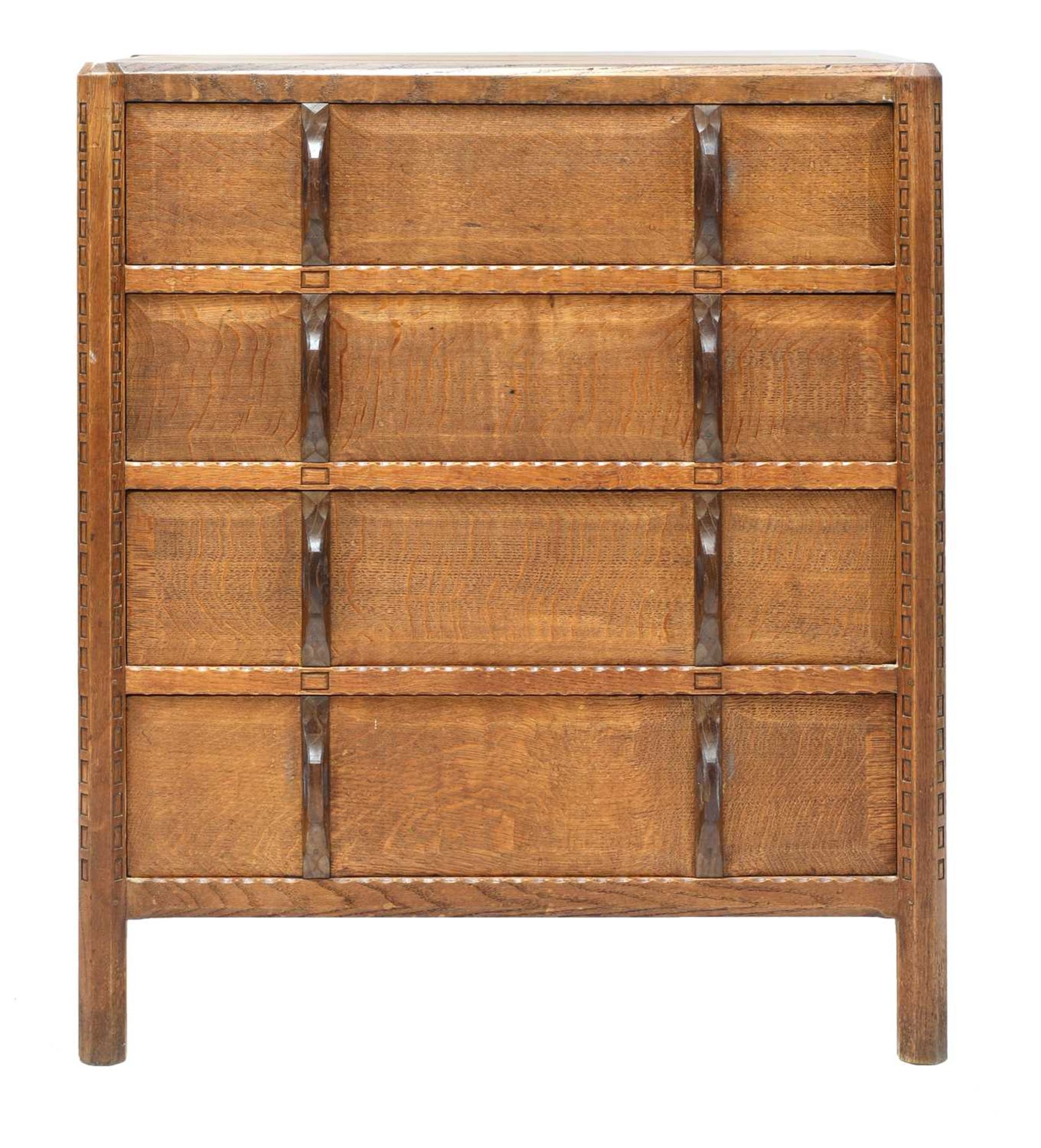 A Gordon Russell 'Stow' oak chest of four drawers,