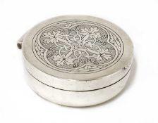 A silver pyx,