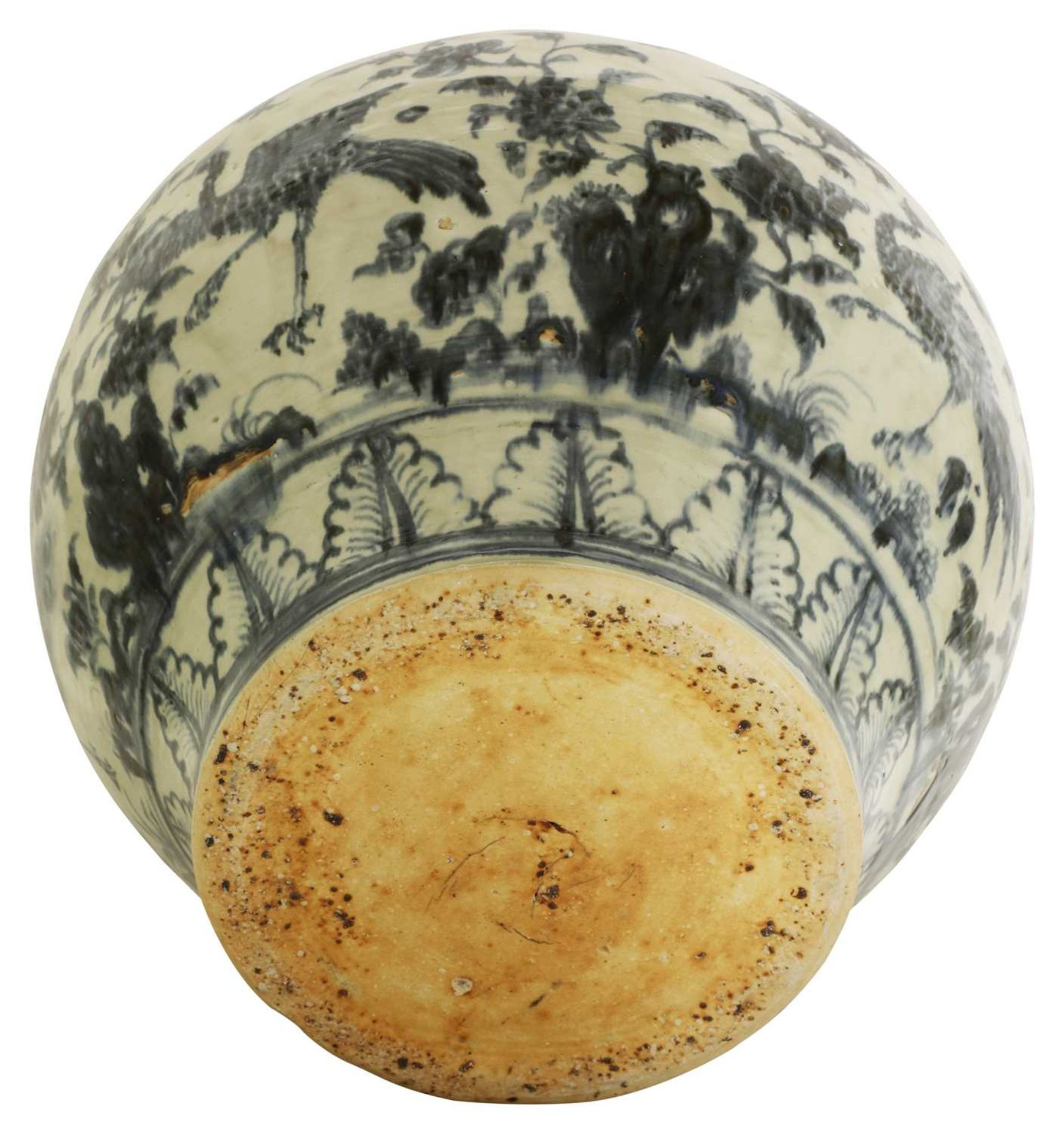A Chinese blue and white jar, - Image 3 of 3