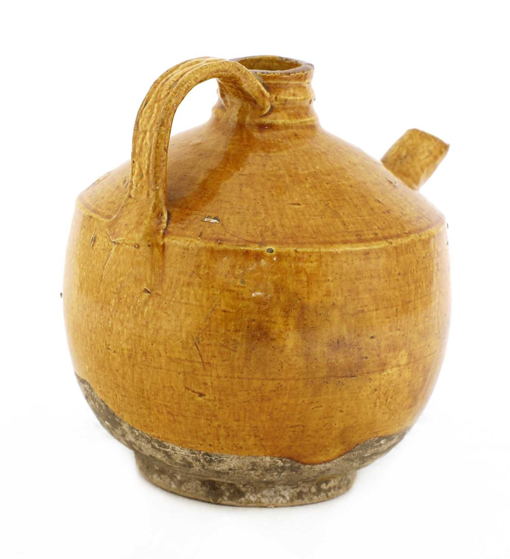 A Chinese pottery ewer, - Image 2 of 3