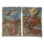 A Japanese woodblock diptych,