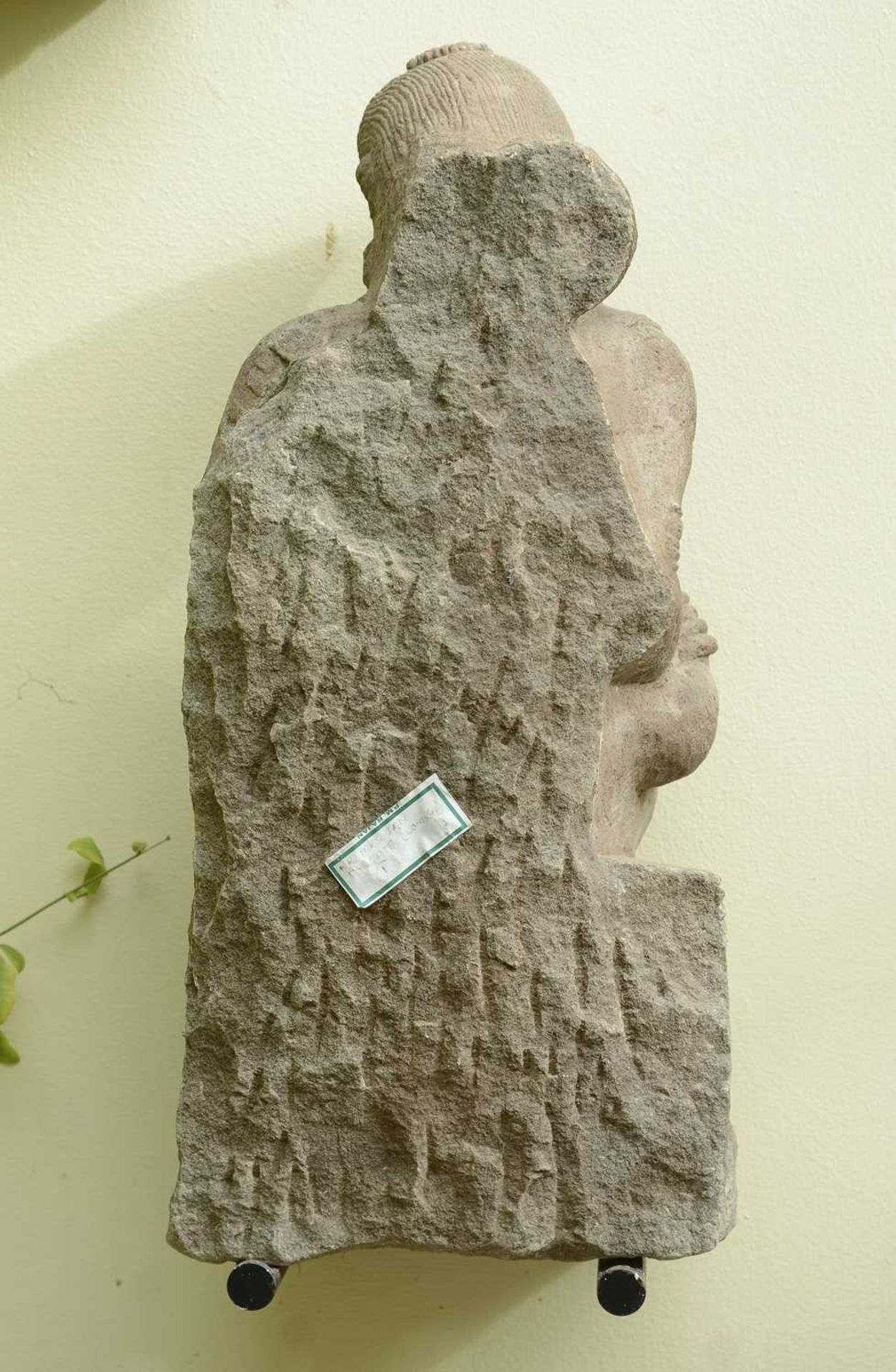 A carved sandstone figure of a dancer, - Image 2 of 2