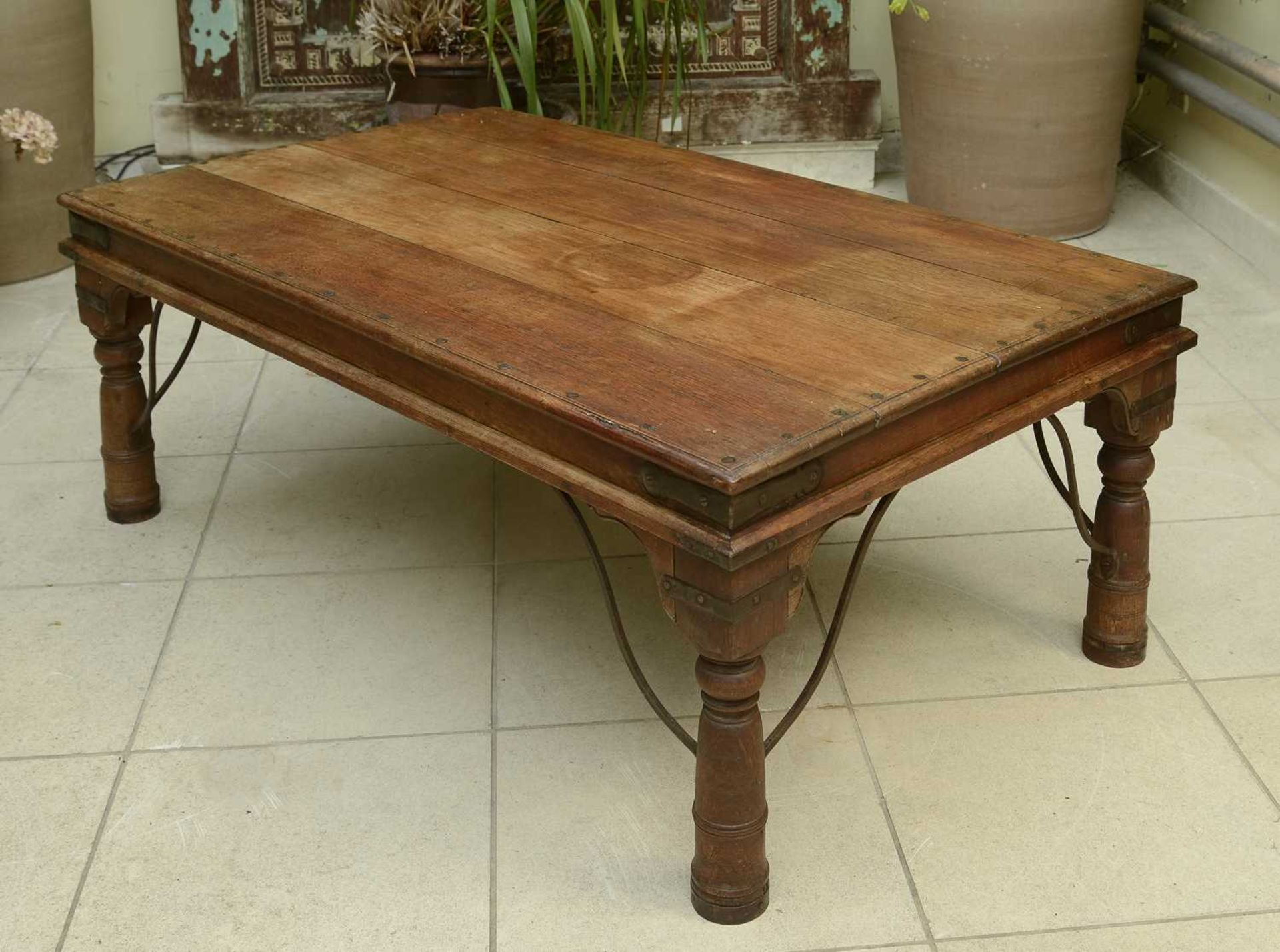 An Indian hardwood low table, - Image 3 of 3