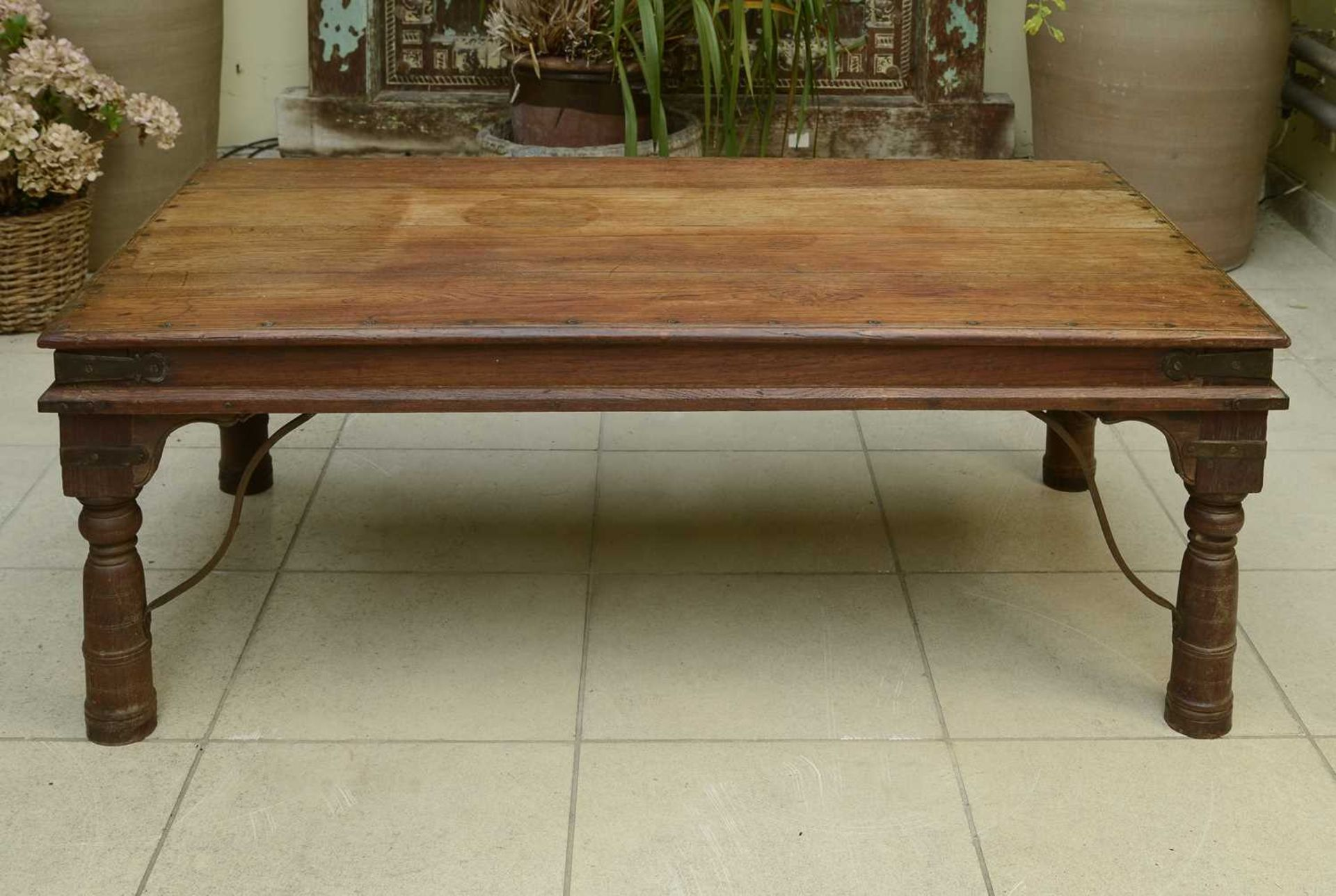 An Indian hardwood low table, - Image 2 of 3