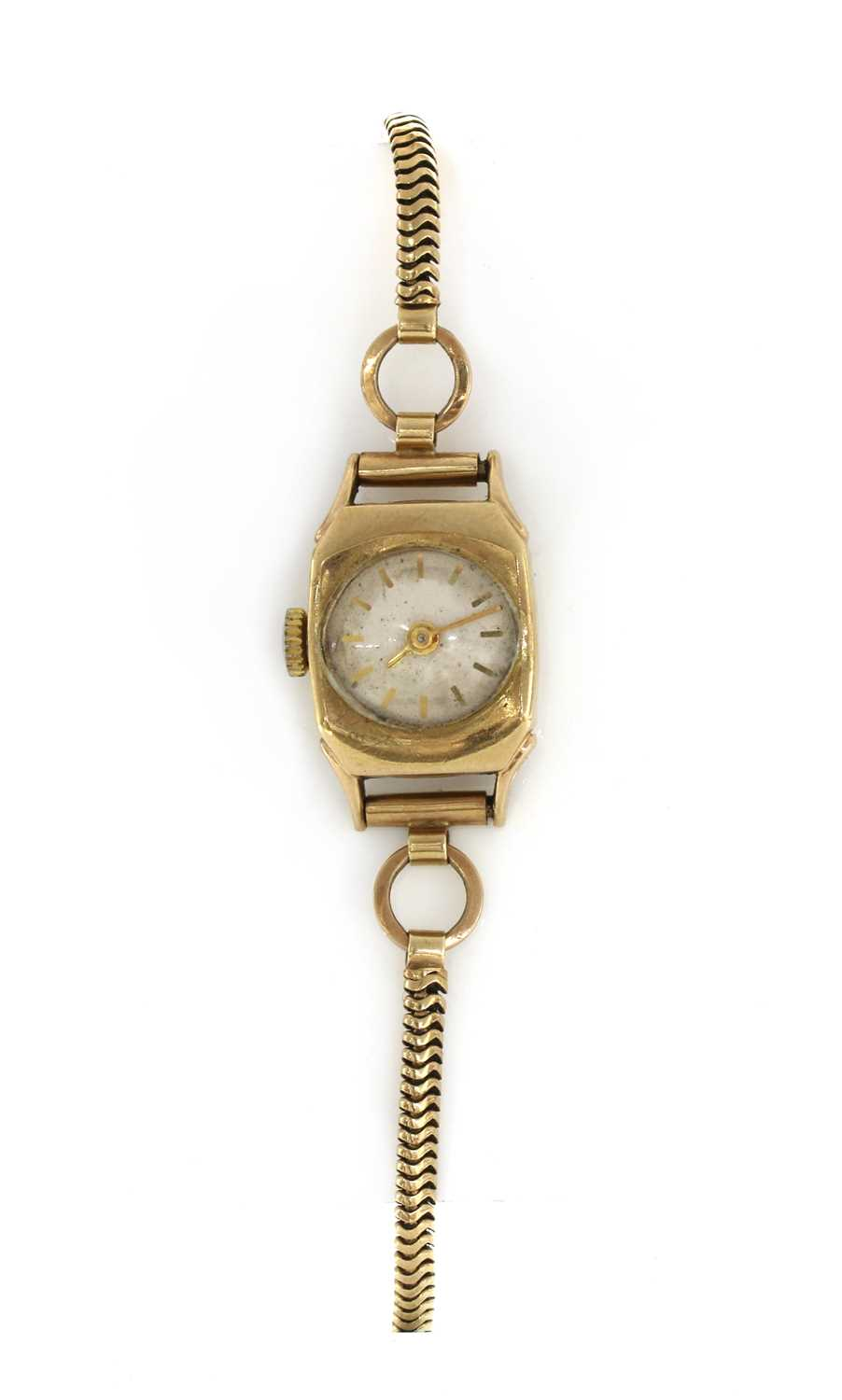 A ladies' Rotary 9ct gold mechanical bracelet watch,