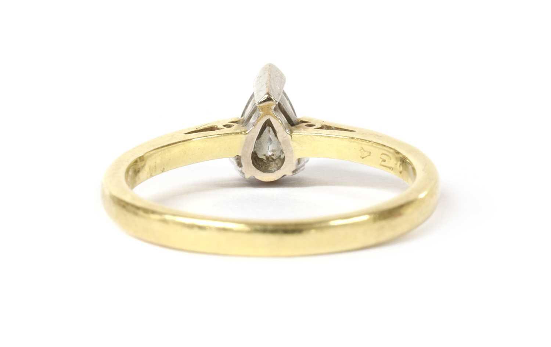 An 18ct gold single stone diamond ring, - Image 3 of 3