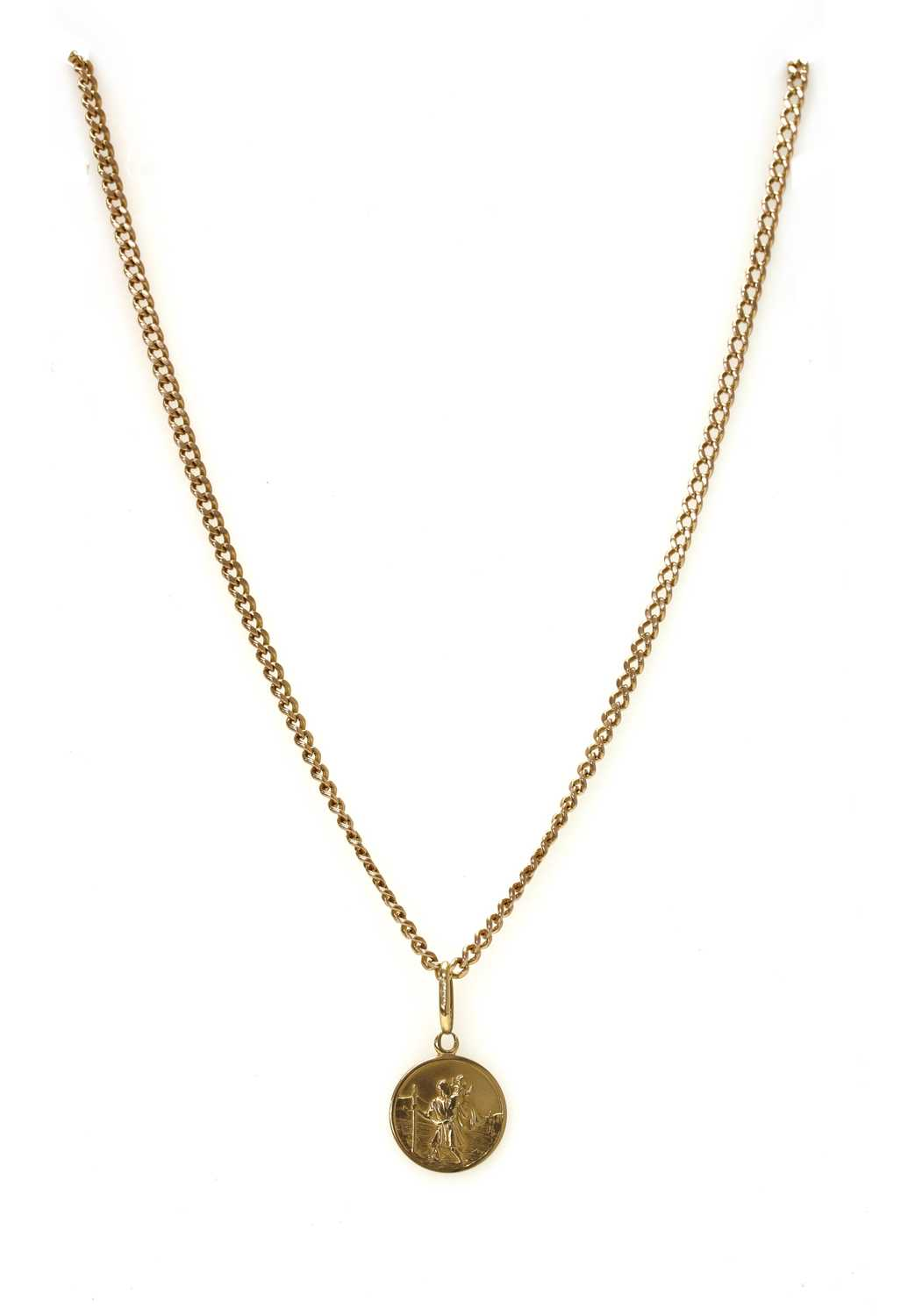A 9ct gold St. Christopher pendant,