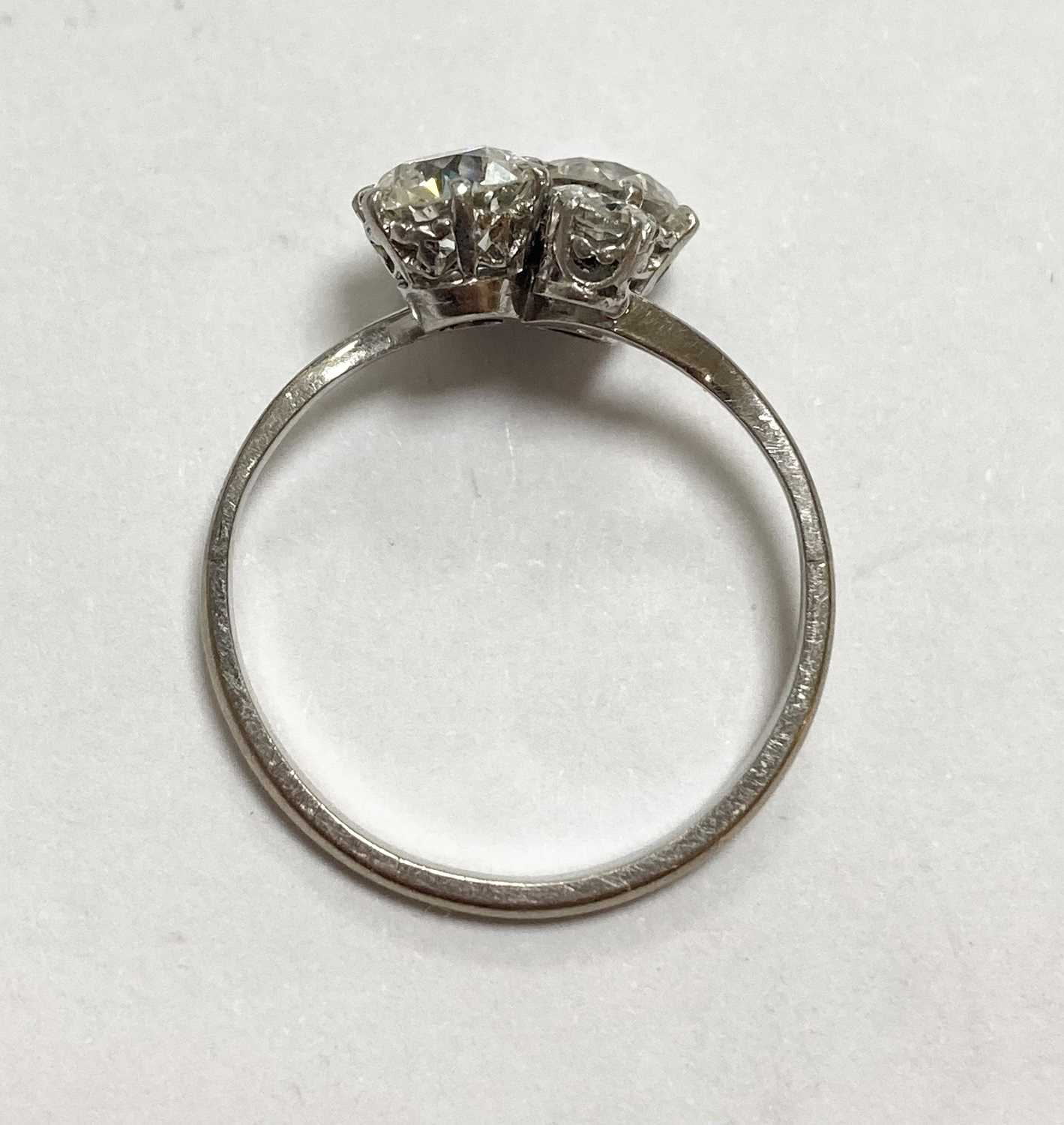 A white gold four stone diamond cluster ring, - Image 6 of 6