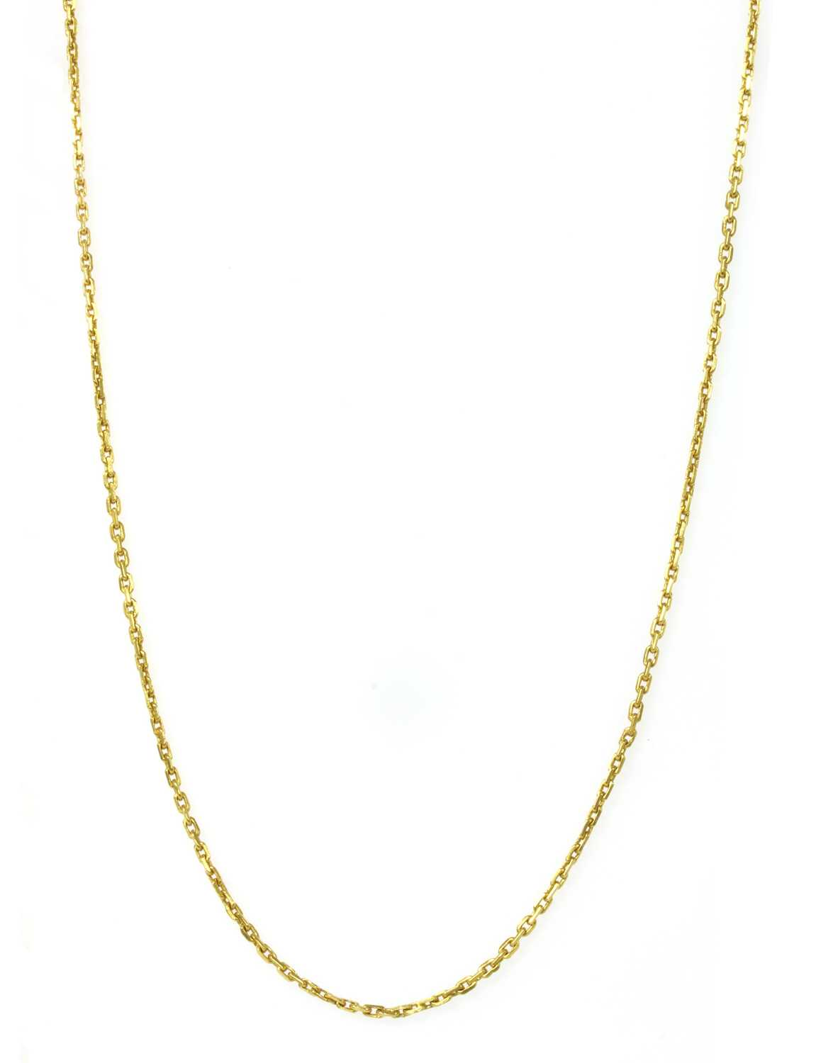 A 22ct gold filed trace link chain,