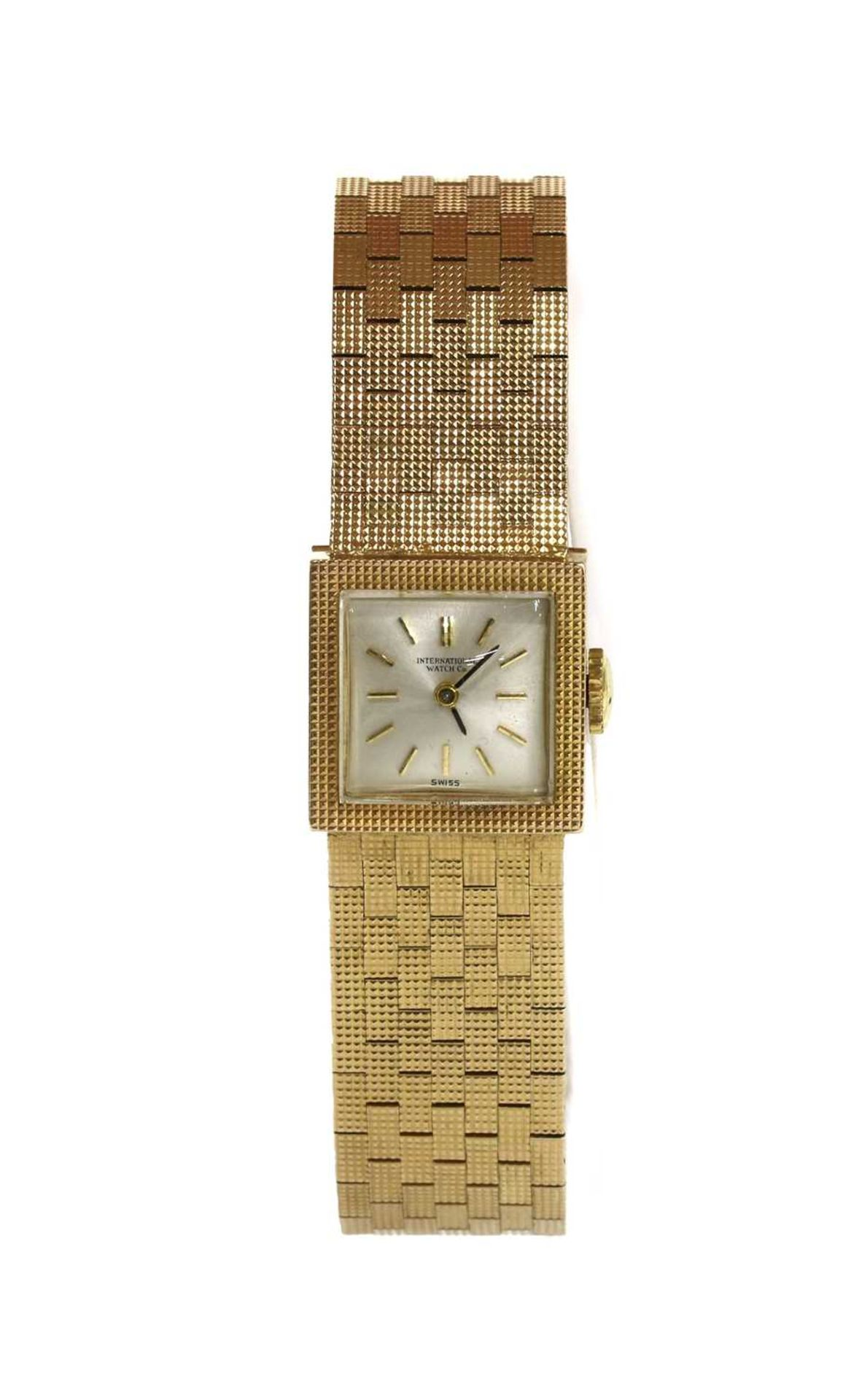 A ladies' 9ct gold International Watch Company mechanical bracelet watch,