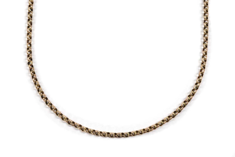 A gold belcher chain,
