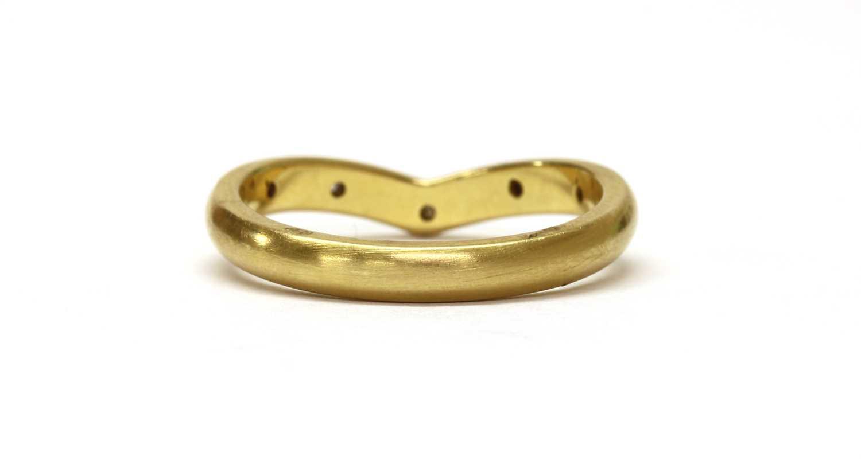An 18ct gold diamond set wishbone ring, - Image 3 of 3