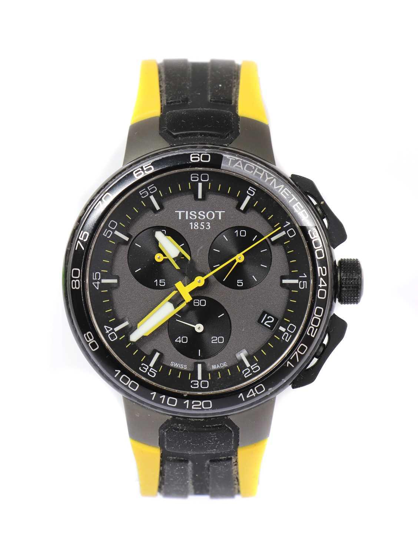 A gentlemen's stainless steel Tissot 'Le Tour de France' quartz chronograph strap watch, c.2017,