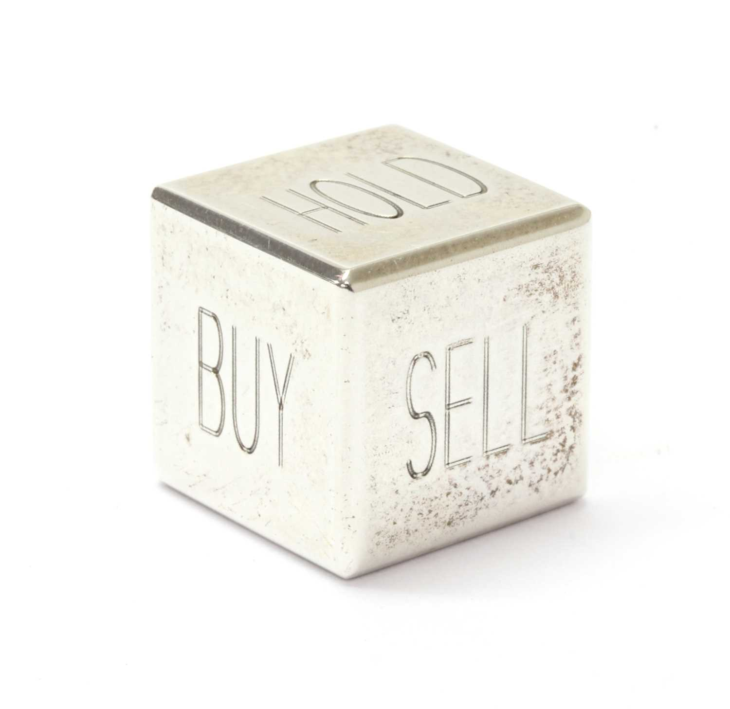 A sterling silver Tiffany & Co. 'Buy, Sell, Hold' decision maker die, - Image 2 of 2