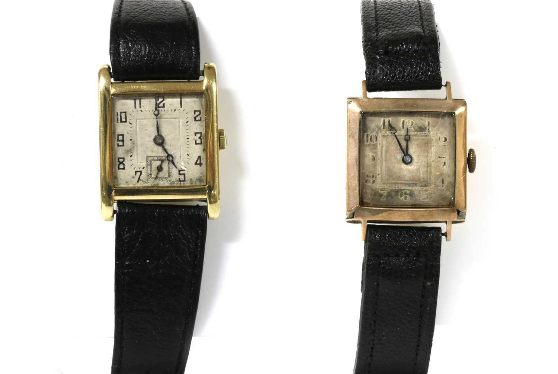 A gold Aster mechanical strap watch,