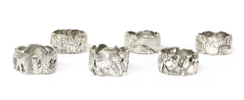 A set of six animal napkin rings, by Patrick Mavros, - Image 2 of 24