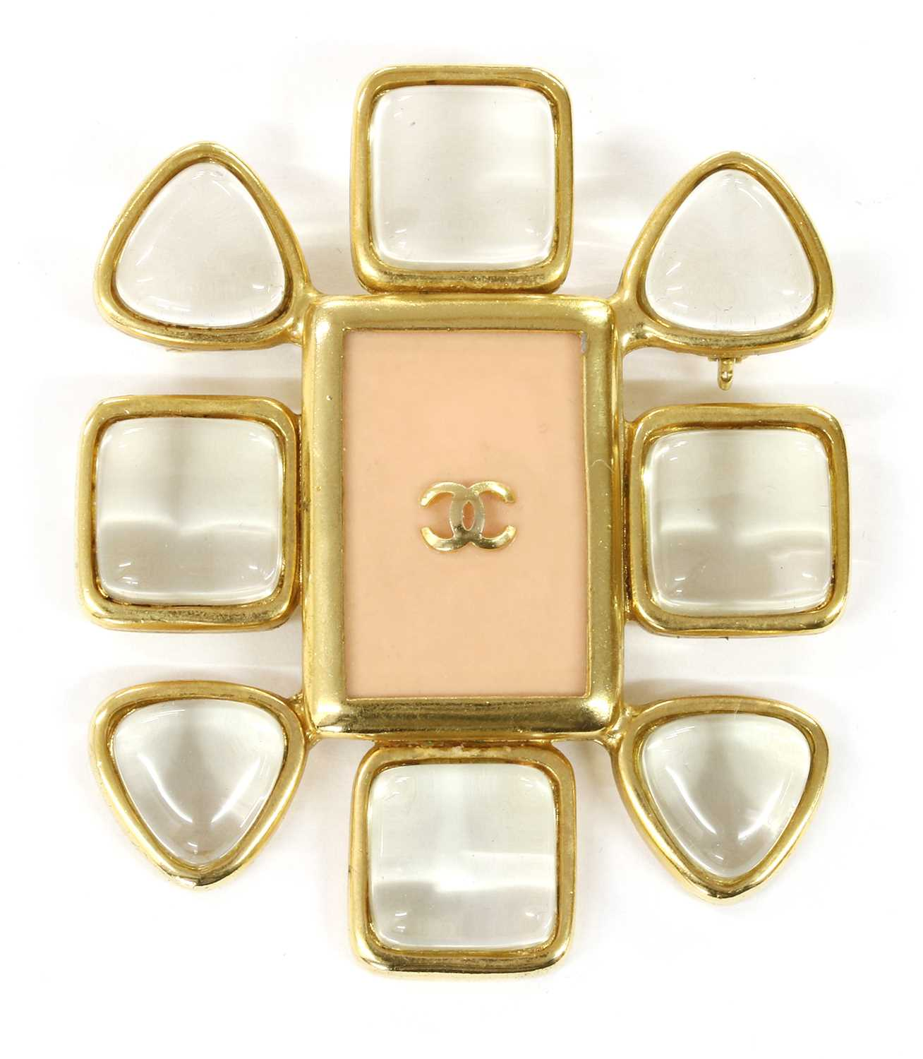 A Chanel gold-plated brooch,