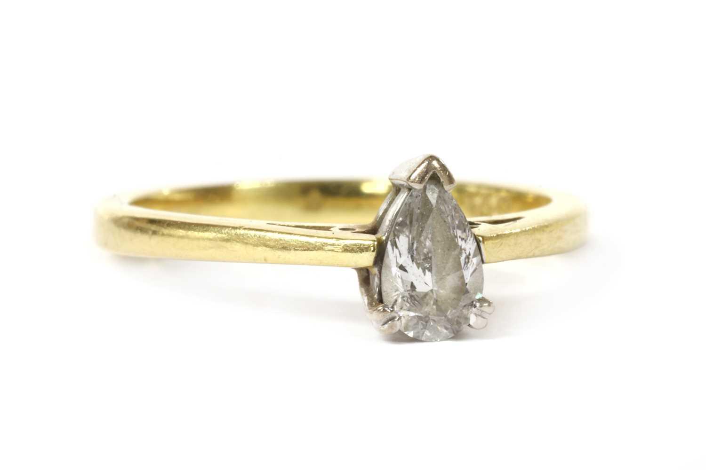 An 18ct gold single stone diamond ring, - Image 2 of 3