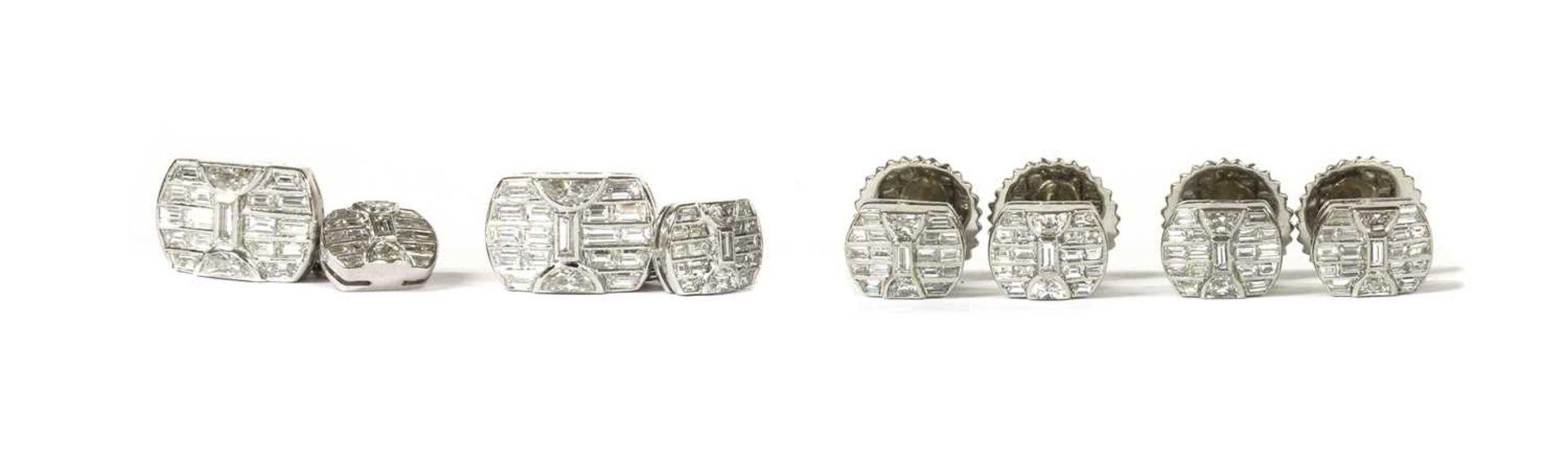 A platinum diamond dress set,