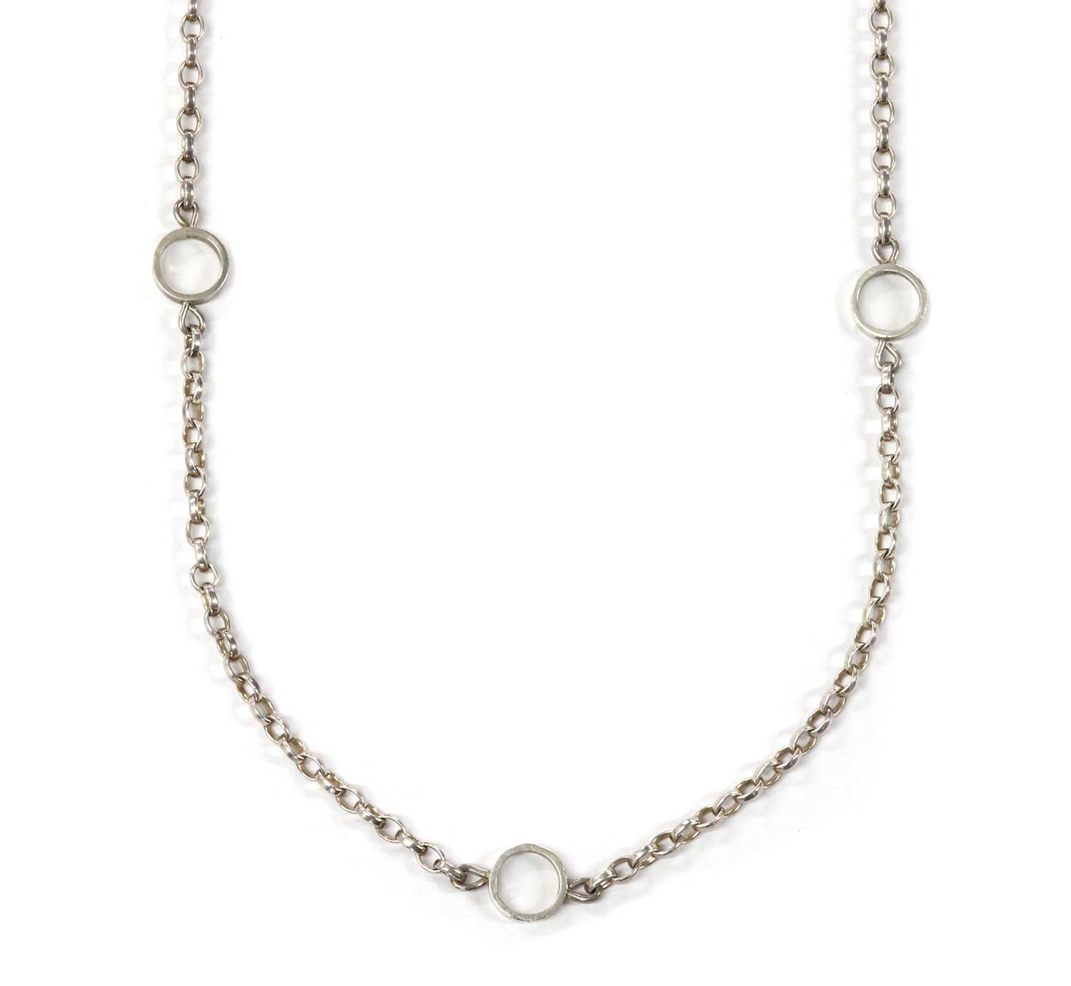 A sterling silver necklace,