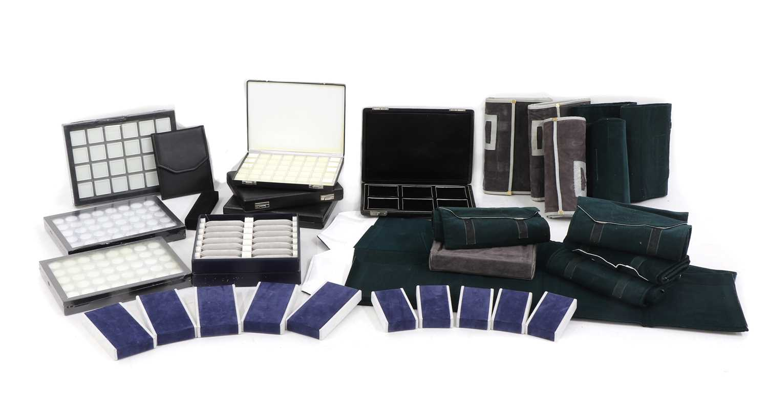 A quantity of jewellery travel cases,