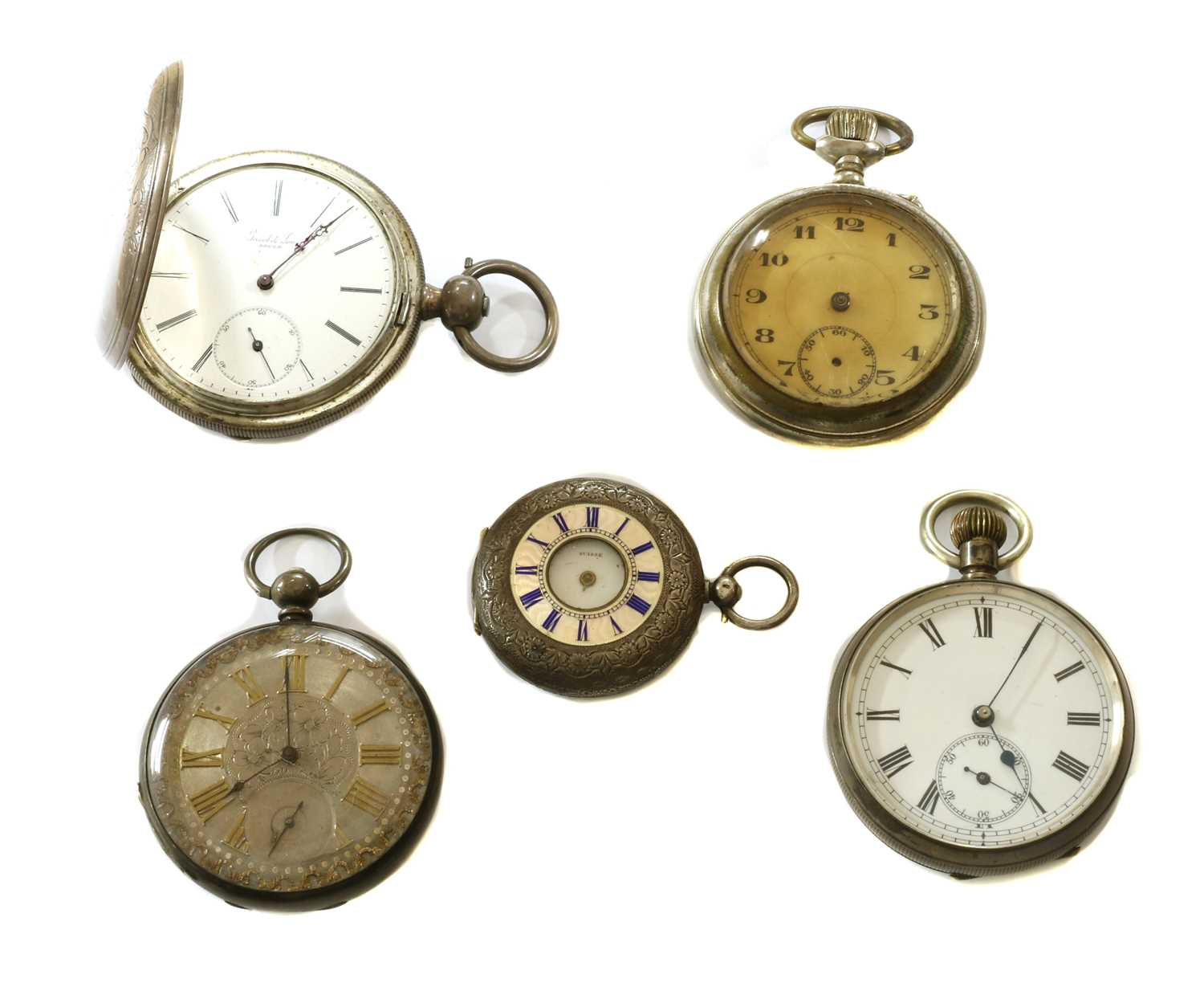 A quantity of pocket watches,