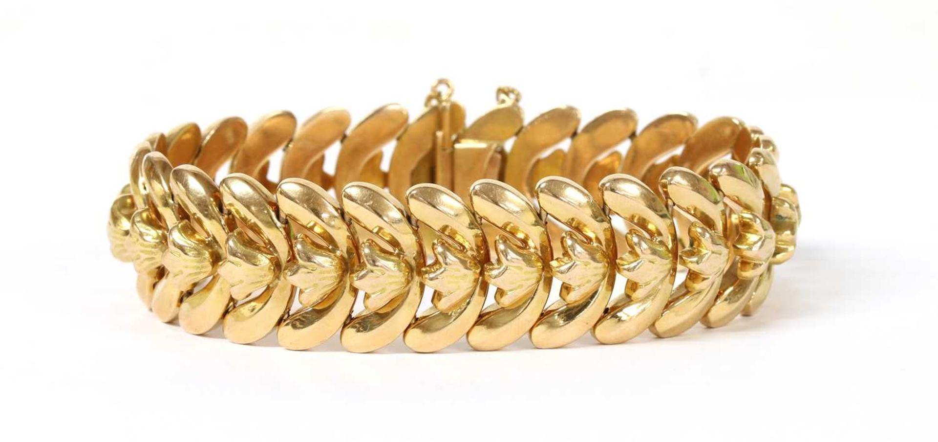 A Continental gold bracelet,
