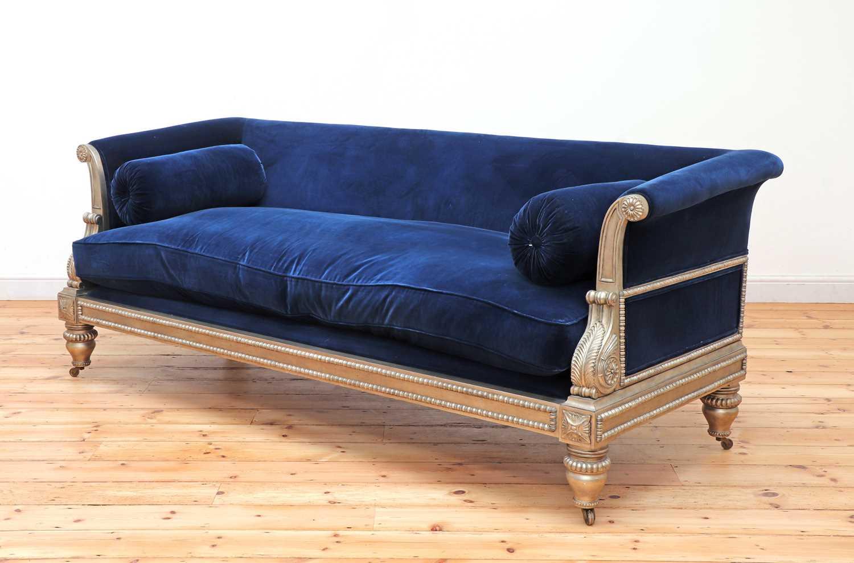 A modern Regency-style sofa,
