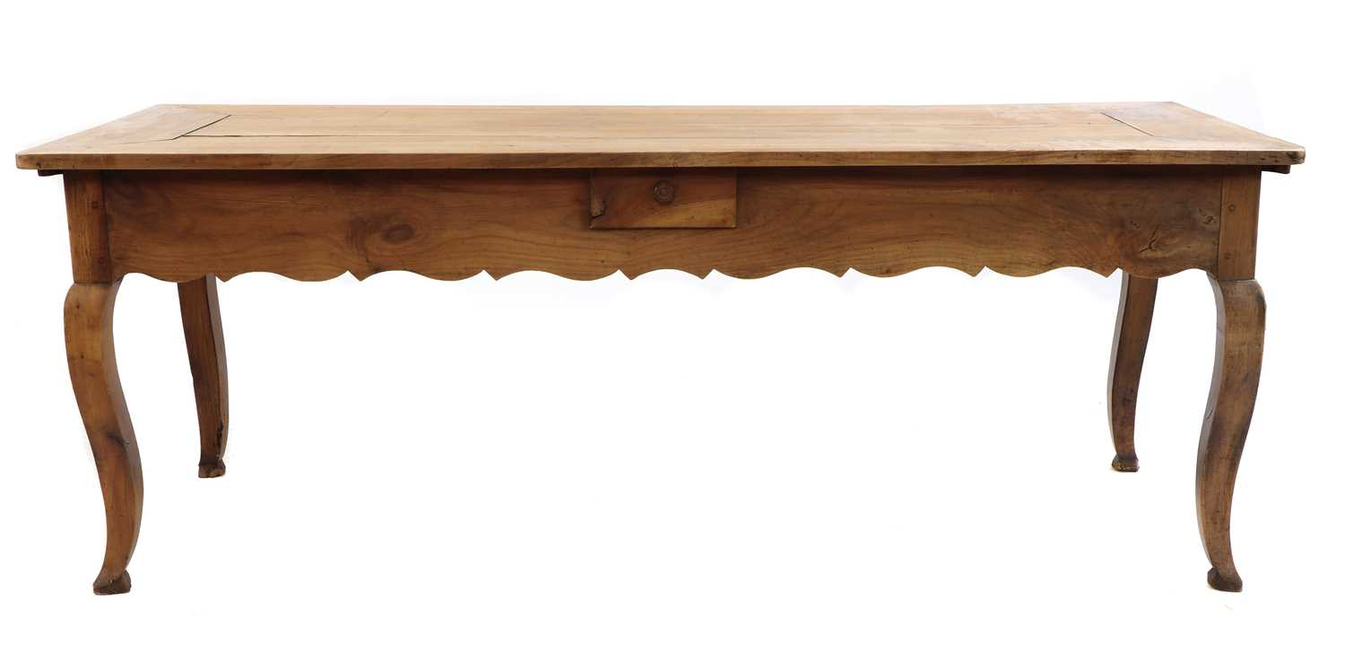 A French provincial sycamore kitchen table, - Image 3 of 10