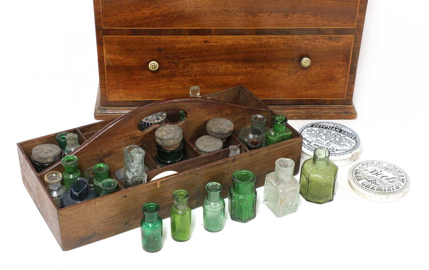 A George III strung mahogany apothecary's chest, - Image 5 of 5
