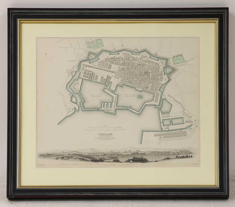 A set of four old maps of Paris, the Environs of Paris, Bordeaux and Toulon, - Image 7 of 25