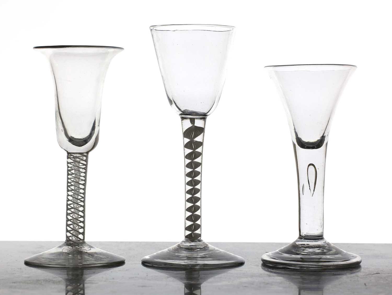 An 18th century glass,