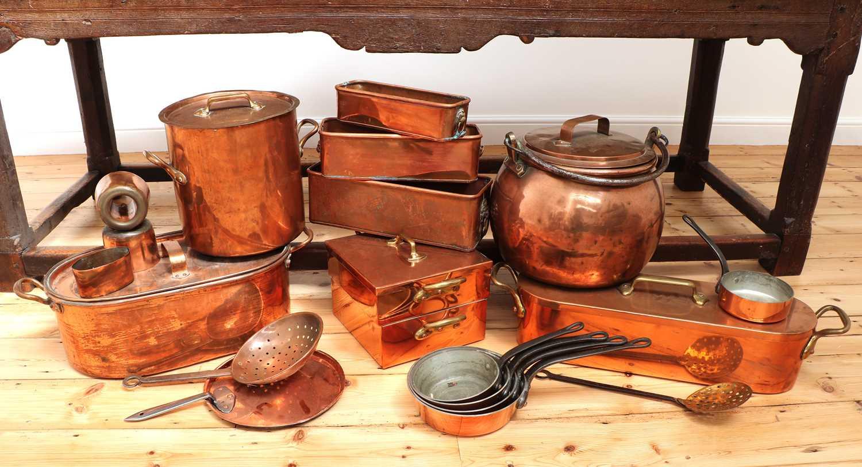 A copper batterie de cuisine, - Image 5 of 6