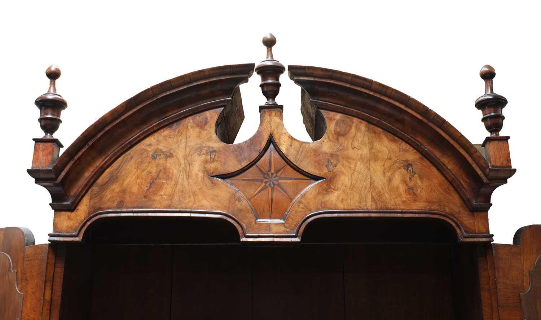 A walnut bureau bookcase, - Image 4 of 7
